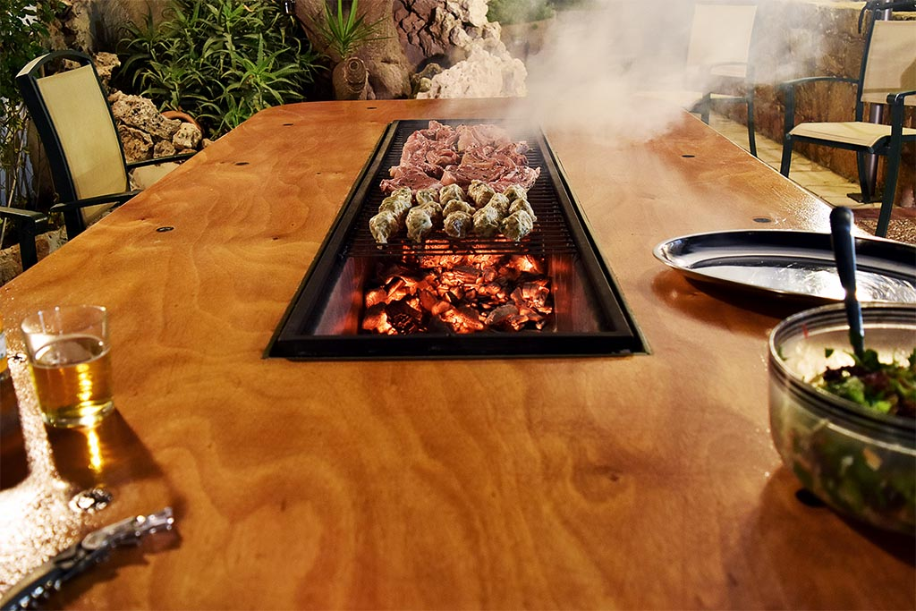 Grill Built Into Table Sevenstonesinccom - Table with grill built in