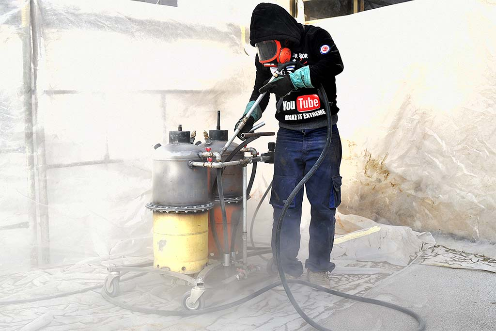 how to make a sandblaster